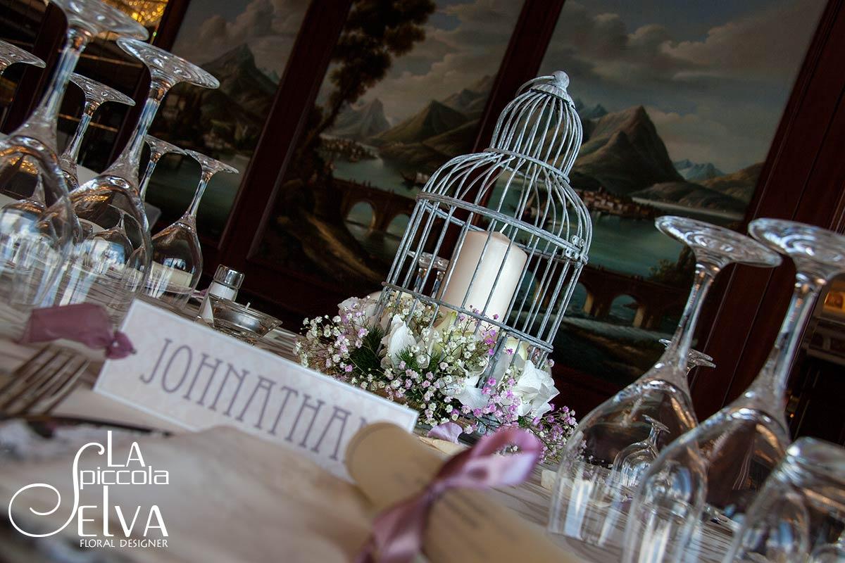 Matrimonio Tema Uccelli : Centrotavola matrimonio con gabbie vintage per uccelli