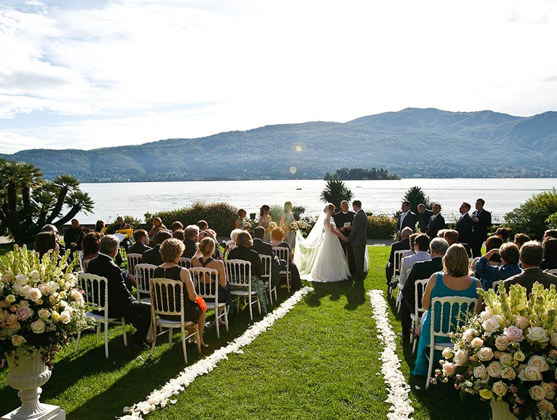 Fiori cerimonia Villa Rusconi lago Maggiore