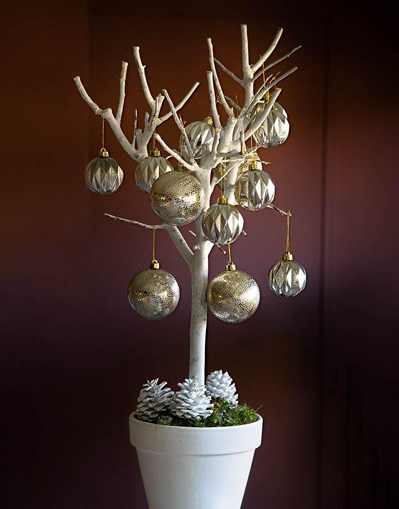 Alberello natalizio silver & gold