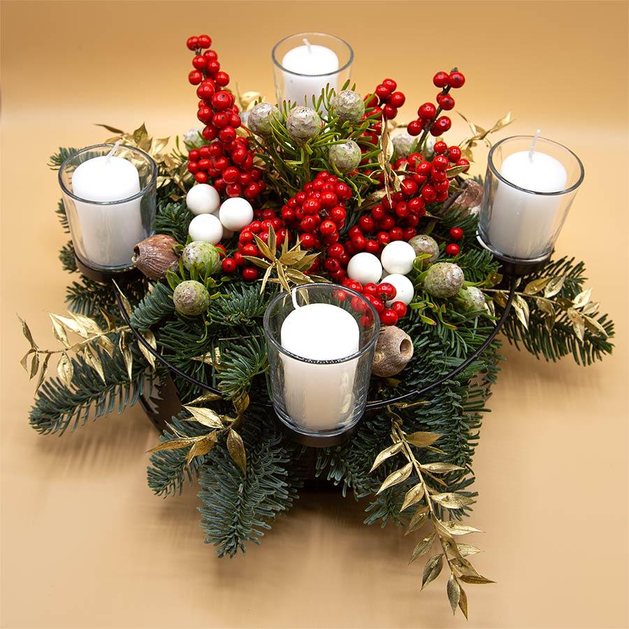 Centrotavola 4 candele