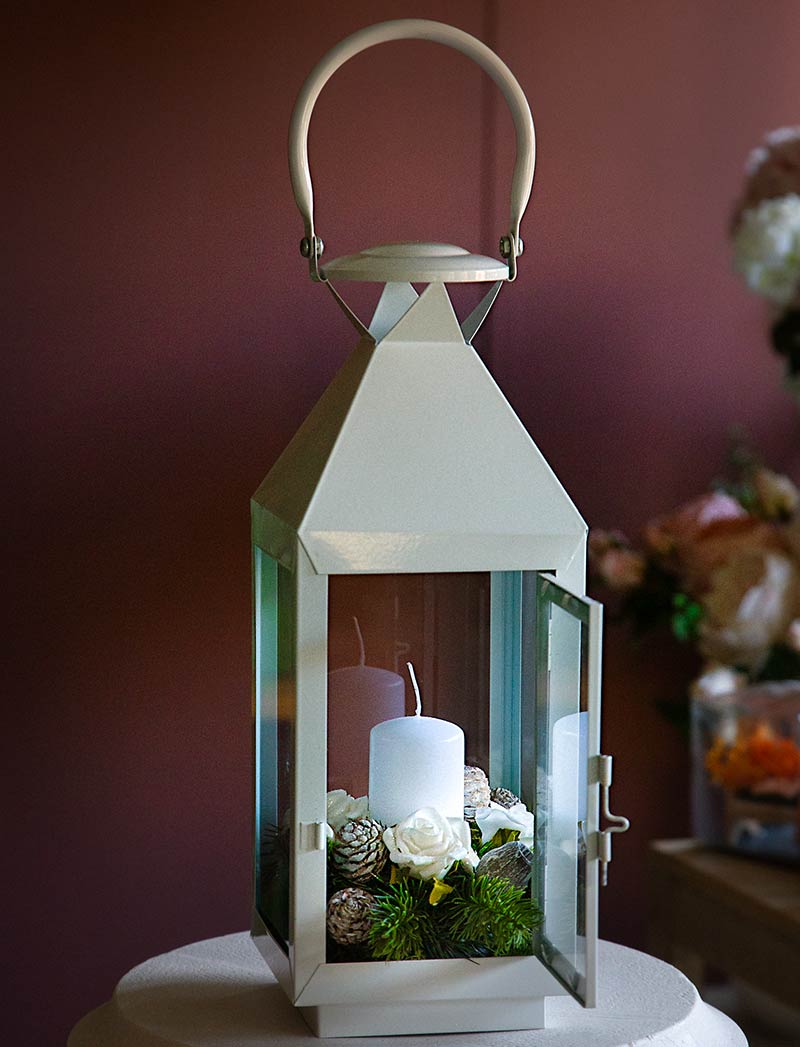 Lanterna vintage Sottobosco con candela