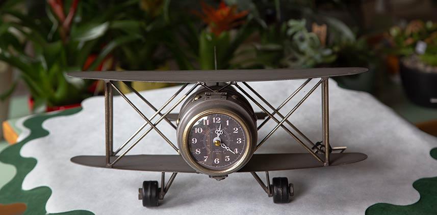 Aeroplano sveglia vintage