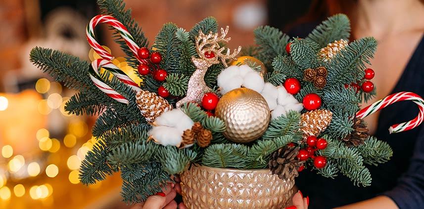 Centrotavola natalizio Winter Wonderland