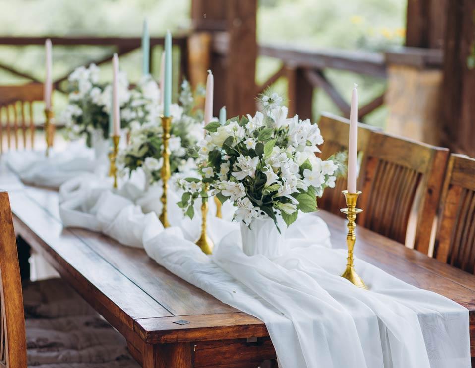 Allestimento tavolo country boho wedding