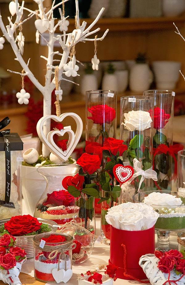 Creazioni con rose stabilizzate