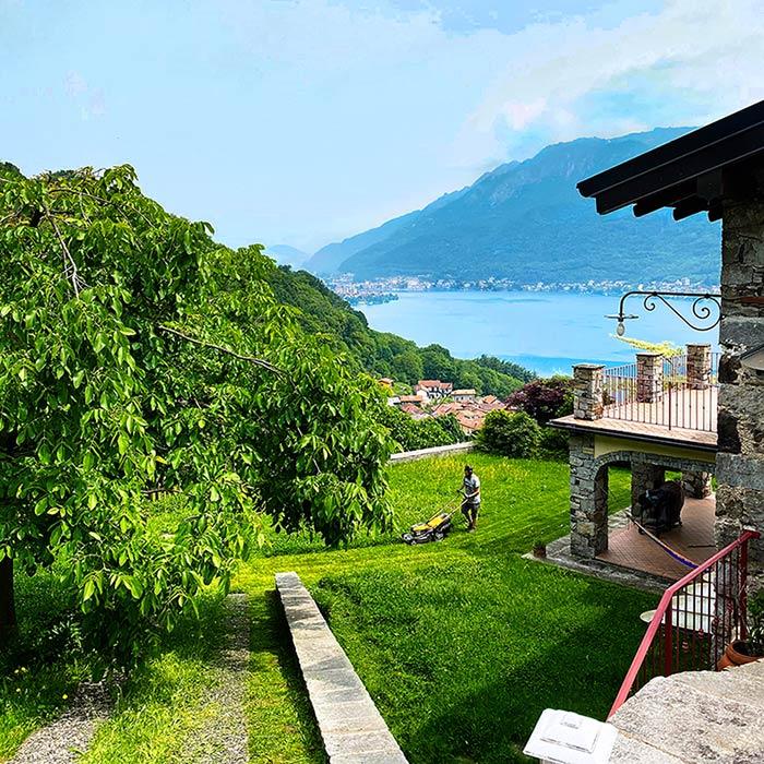 Servizio manutenzione giardini al Lago d'Orta